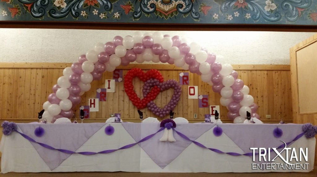 Balloon decor calgary edmonton alberta saskatchewan wedding balloon decor junglespirit Image collections