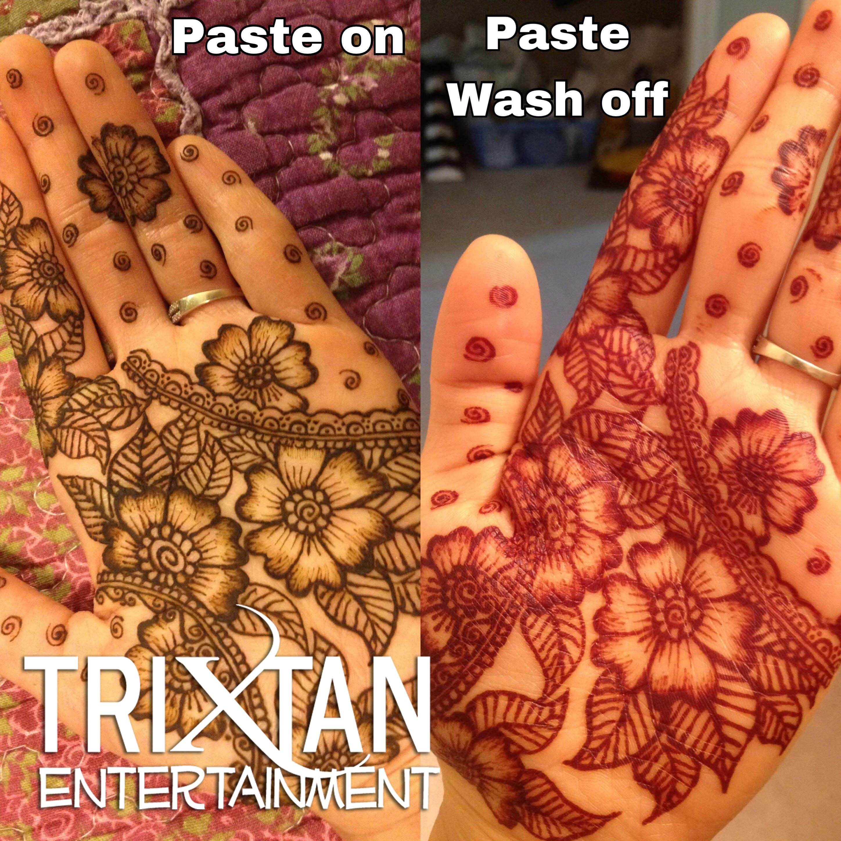 f9c2c7977 Henna tattoo of Flowers on a Hand - TriXtan Entertainment inc.