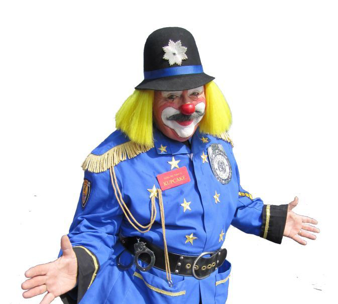 Character Clown Blue Police Officer